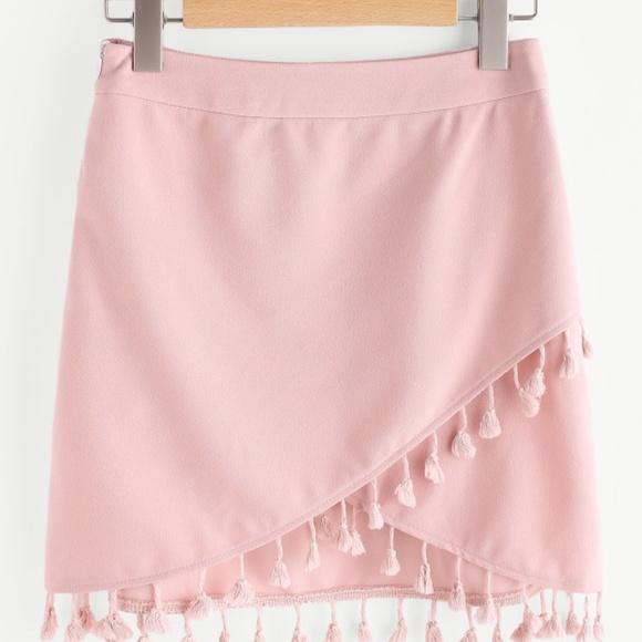 ccc8f3b5f4d0 Skirts | Light Pink Tassel Skirt | Poshmark